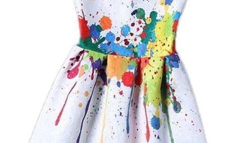 Dívčí šaty bez rukávů s originálním motivem - 15 variant