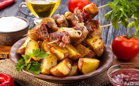 2 masové špízy čtyř vůní s americkými brambory