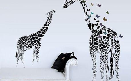 Samolepka na zeď - Abstraktní žirafy