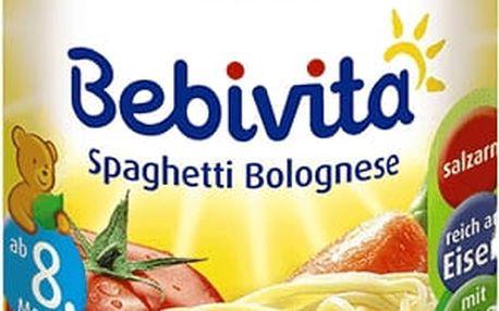 BEBIVITA Boloňské špagety (220g) - masozeleninový příkrm