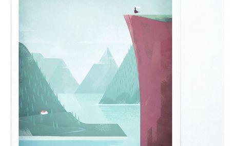 Plakát Travelposter Norway, A3