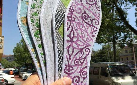 Prodyšné barevné vložky do bot - různé velikosti