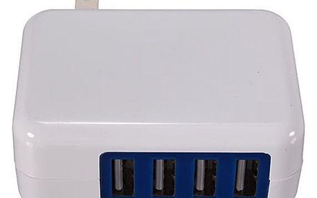 Adaptér na 4 USB kabely v bílé barvě