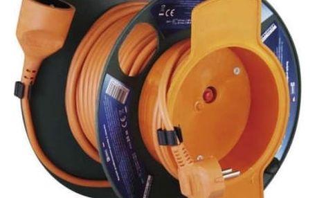 Kabel prodlužovací na bubnu EMOS 1x zásuvka, 25m oranžový