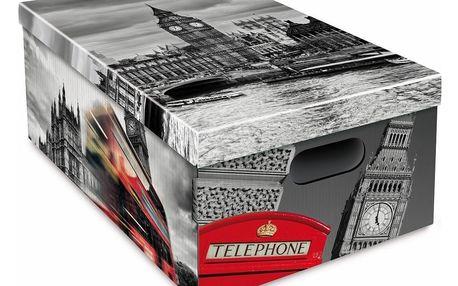 Sada 3 úložných boxů Ordinett London