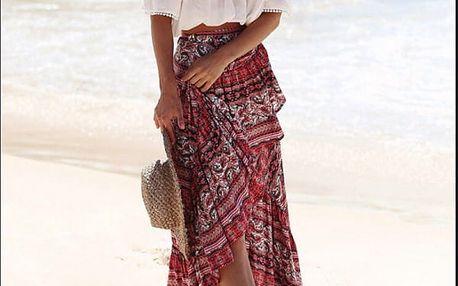 Letní sukně v dlouhém provedení - 2 barvy