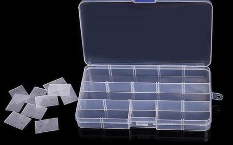 Plastový organizační box - 15 přihrádek