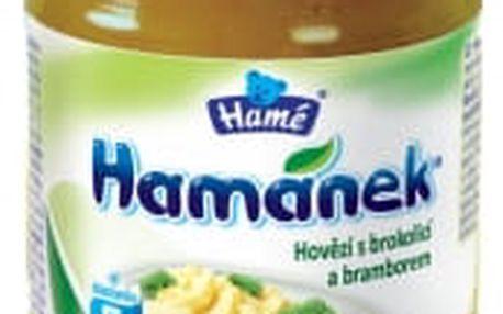 HAMÁNEK Hovězí s brokolicí a bramborem (190 g) – maso-zeleninový příkrm