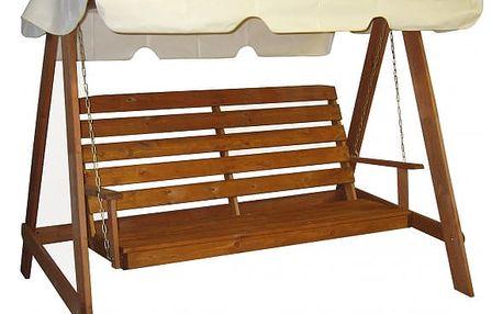Konstrukcer - Dřevěná houpačka, 3 místa k sedění (dřevo)