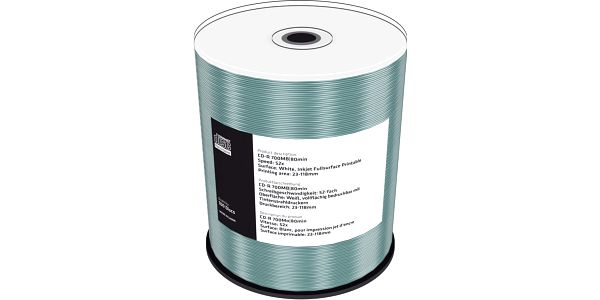 MediaRange CDR 52x 700MB Printable, Spindle, 100ks - MR203