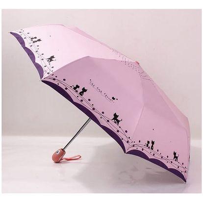 Deštník s roztomilými kočičkami - 5 barev