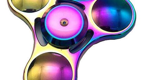 Fidget spinner jako antistresová hračka - duhová barva