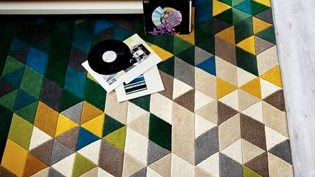 Zelený vlněný koberec Flair Rugs Prism, 160x220cm - doprava zdarma!