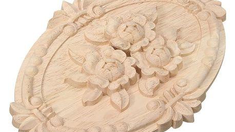 Světlá dřevěná dekorace na nábytek
