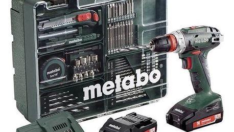 Aku vrtačka Metabo BS18Quick MD 2x2,0Ah zelená + Doprava zdarma