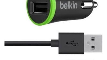 Belkin micro nabíječka do auta microUSB, černá - F8M711bt04-BLK