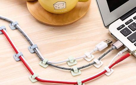 Sada nalepovacích držáků na kabely - 18 ks