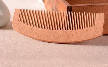 Multifunkční dřevěný hřeben na vlasy