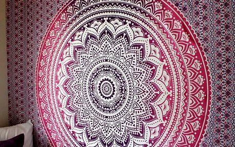 Univerzální bohémský šátek s motivem mandaly - 25 variant
