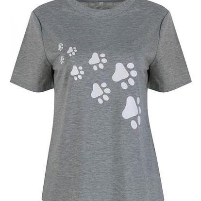 Dámské tričko s potiskem tlapek - 2 varianty