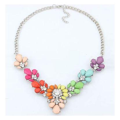 Bohatě zdobený náhrdelník ve veselých barvách - dodání do 2 dnů