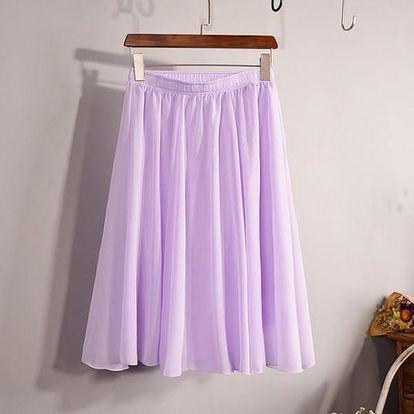 Lehoučká šifonová sukně - více barev