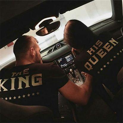 Tričko pro páry - král a jeho královna