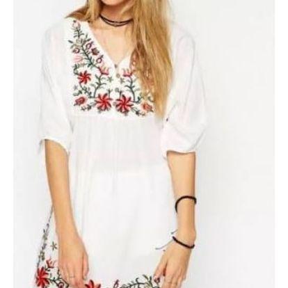 Nádherné letní šaty s květinovou výšivkou