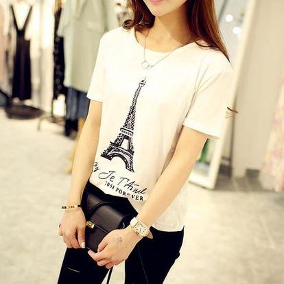 Dámské tričko s motivem Eiffelovy věže