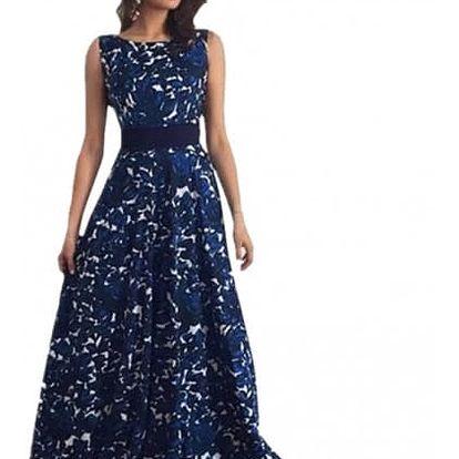 Dámské dlouhé šaty s motivem noční oblohy