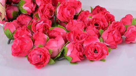 Umělé růže na dekoraci - 50 ks