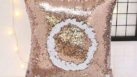 Stylový povlak na polštář s flitry - 6 barevných variant