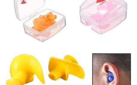 Silikonové vodotěsné špunty do uší