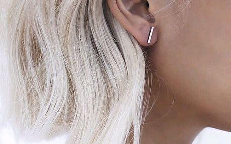 Elegantní minimalistické náušnice - 3 barvy