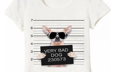 Tričko s potiskem psích vězňů - různá plemena