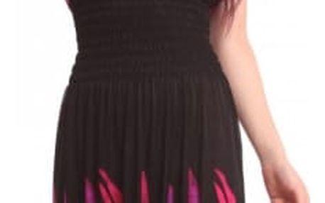 Dámské dlouhé šaty s pavími motivy - 3 barvy