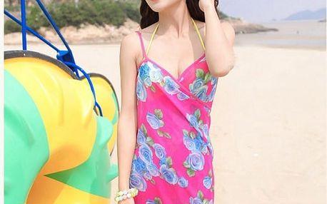 Plážové šifonové šaty - mix barev