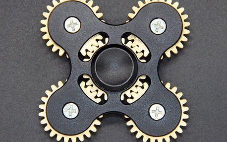 Antistresová hračka - fidget spinner s ozubenými koly - 6 barev