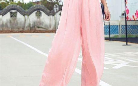 Vzdušné šifonové kalhoty - více barev
