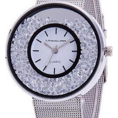 Ocelové hodinky - sypací kamínky - 3 barvy
