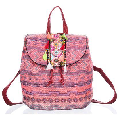 Fashion Icon Batoh ETNO textilní A4 Backpack