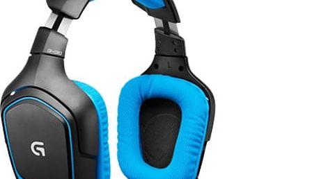 Logitech G430, modrá - 981-000537