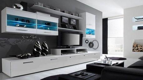 Alfa - obývací stěna (bílá/bílá)