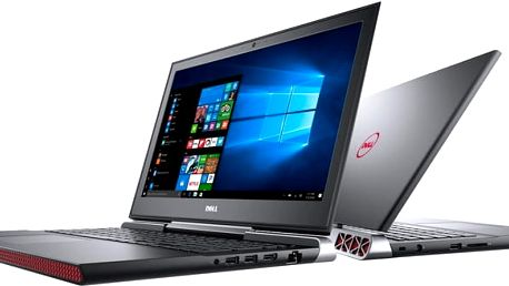 Dell Inspiron 15 Gaming (7566), černá - N-7566-N2-714K + Dell Targus 15-15.6 Clamshell Laptop Case Black k Dell NB zdarma