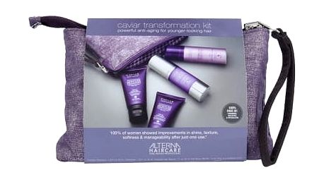Alterna Caviar Anti-Aging dárková kazeta pro ženy šampon Replenishing Moisture 40 ml + kondicionér Replenishing Moisture 40 ml+ vlasová péče Overnight Hair Rescue 30 ml + lak na vlasy Hairspray 43 g