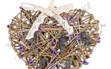 Dřevěné srdce 15x13 cm