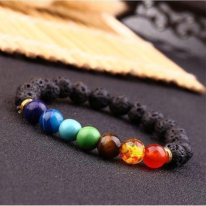 Čakrový náramek s lávovými kameny Yoga