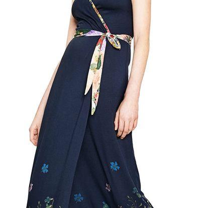 Desigual tmavě modré šaty Botanical - XL