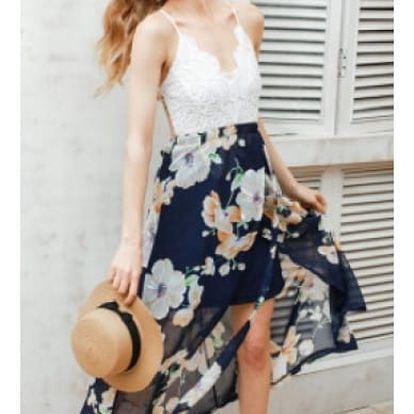 Dámské letní šaty s krajkou a květy Sessy