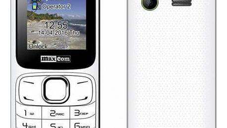 Mobilní telefon MaxCom Classic MM129 Dual SIM (MM129WHDS) bílý/zelený